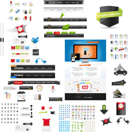 Web graphic collection Vector