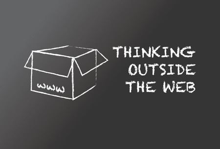web solution: Thinking outside the web Illustration
