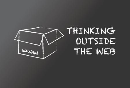 outside: Thinking outside the web Illustration