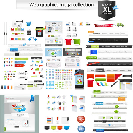 Web graphic collection Illustration