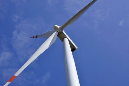 wind turbine on sunny day photo
