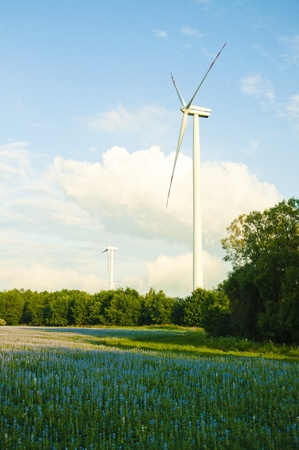 An image of wind turbines