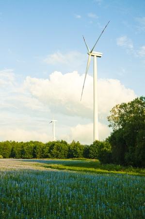 Een afbeelding van windturbines Stockfoto