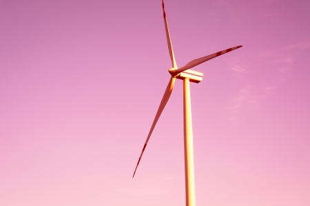 windturbines: An image of windturbines at dusk