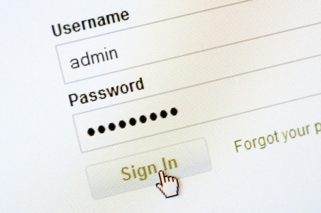 An image of login screen