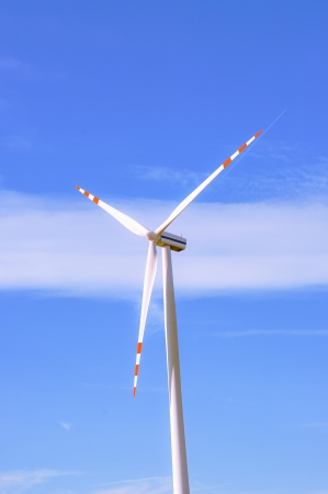 An image of windturbine of suny day photo