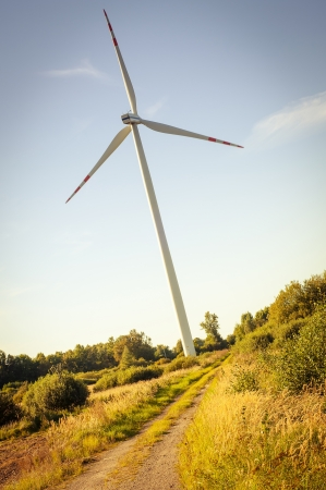 An image of windturbine on sunny day photo