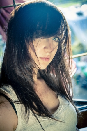 An image of atractive brunette girl