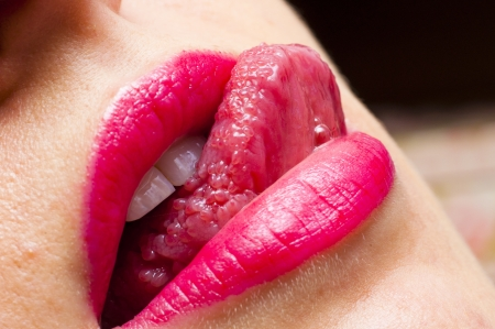An image of pink lips Stock Photo - 16328887