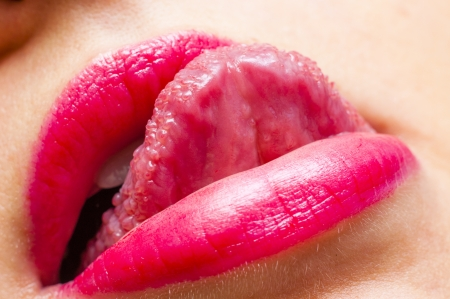 An image of pink lips photo