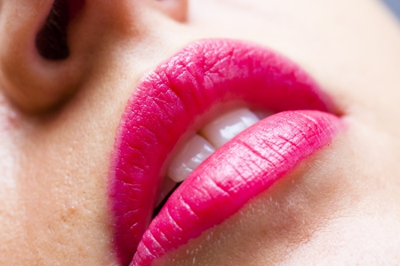 An image of pink lips Stock Photo - 16421581