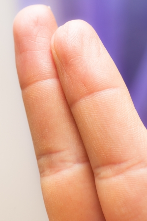 An image of two fingers photo