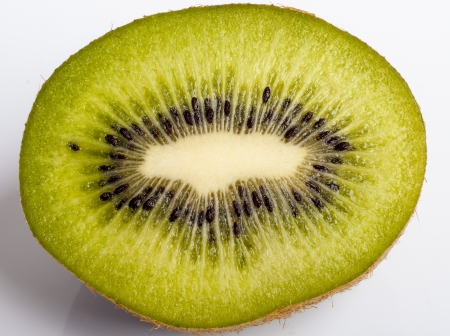An image of half kiwi fruit photo