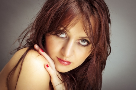 An image of young beautiful woman photo