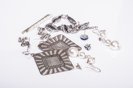 an image of jewelry on white photo