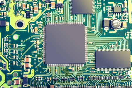 An image of microchip background - technology concept  photo