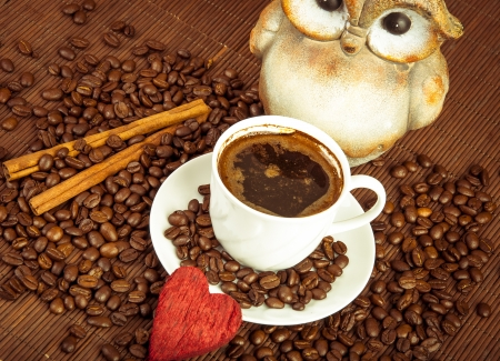 una imagen de la taza de caf? Foto de archivo - 16477251
