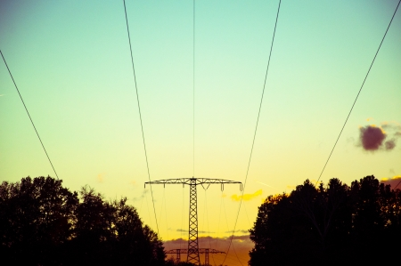 An image of high voltage line photo