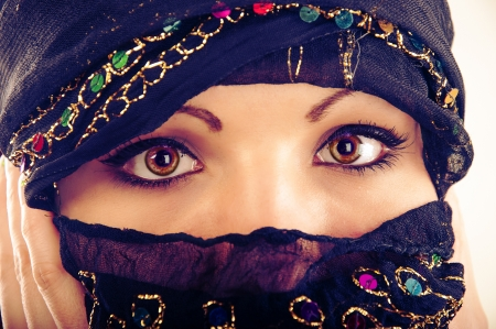 An image of muslim girl wearing hijab photo