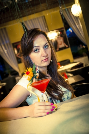An iamge of girl in the bar Stock Photo - 16467008