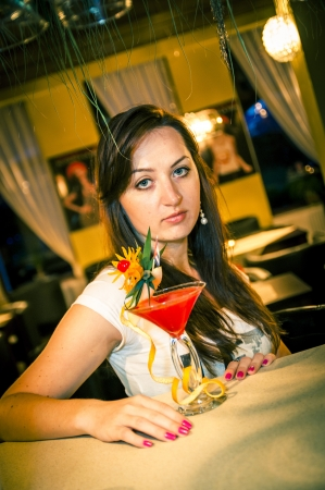 An iamge of girl in the bar Stock Photo - 16466996