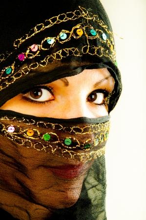 An image of muslim girl, studio shot Stock Photo - 16573805