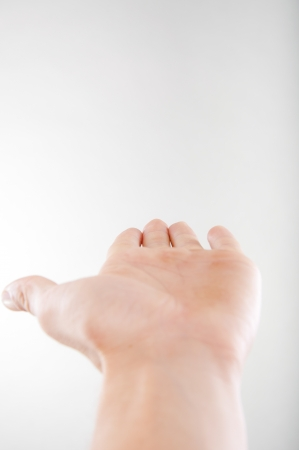 An image of open hand on white background Stock Photo - 16569664