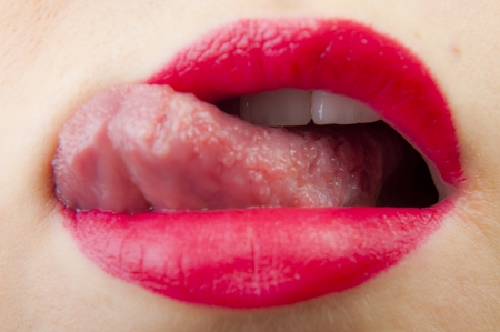 sexy tongue: An image of pink lips