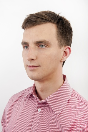 An image of atracttive young man on white background photo