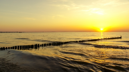 An image of sunset over baltic sea Stock Photo - 16775587