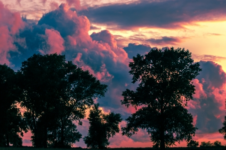 An image of Dark sky with storm clouds during sunset Stock Photo - 16917886
