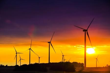 Een afbeelding van windpark Stockfoto