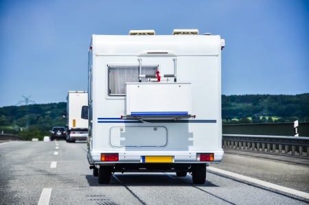 An image of camper on the highway