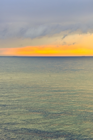 An image of sunset over baltic sea Stock Photo - 16918363