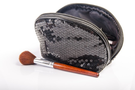 vanity bag: An image of vanity case and cosmetics