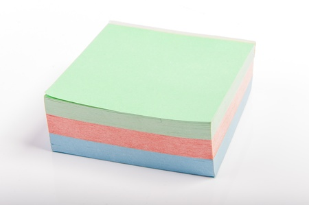 An image of sticky notes on white background photo