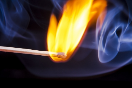 An image of firing match on black background Stock Photo - 17294326