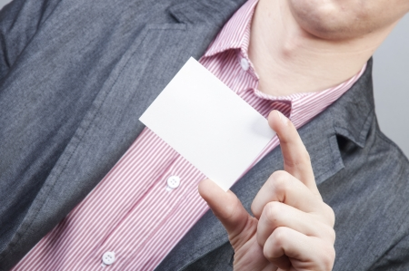 An image of businessmen holding blank card Stock Photo - 17287691