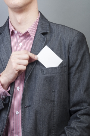 An image of businessmen holding blank card Stock Photo - 17287638