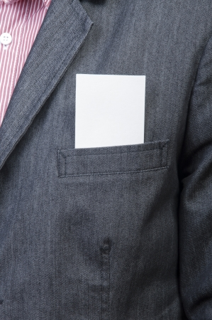 An image of businessmen holding blank card Stock Photo - 17287643