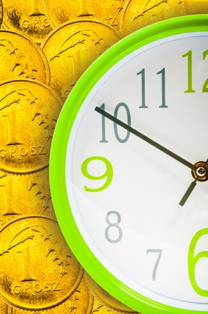 An image of business concept of time and money photo