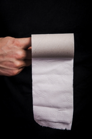 An image of empty toilet paper roll Stock Photo - 17294810