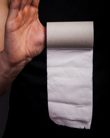 An image of empty toilet paper roll Stock Photo - 17293886