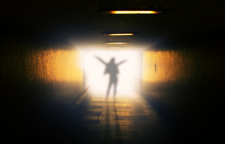 An image of ghost in the tunnel Stock Photo - 17294024