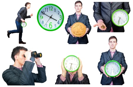 An image of young businessmen set isolated on white background Stock Photo - 17289323