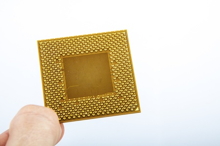 An image of central processing unit. CPU Stock Photo