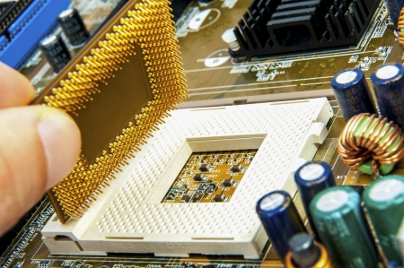 An image of central processing unit. CPU photo
