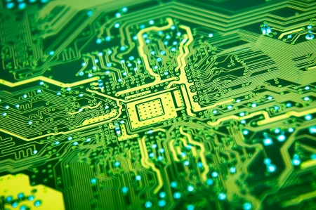 An image of macro shoots of motherboard Stock Photo
