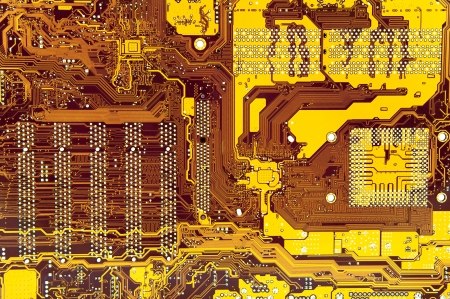 An image of macro shoots of motherboard photo