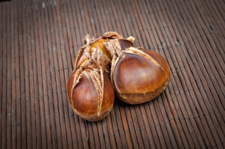 An image of roasted chestnut marron isolated. Castanea Sativa Stock Photo - 17427979